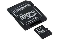 Kingston Secure Digital Micro 8GB SDHC Class4 + SD adapter